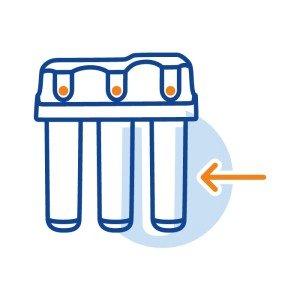 Монтаж клапана защиты от протечек, отдельно